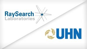 RaySearch and UHN logos