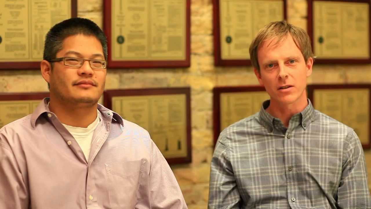 photo of 2 men from video about Cancer Markers button