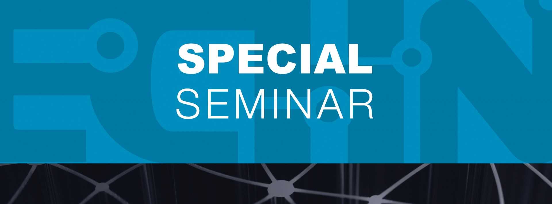 special seminar text graphic button