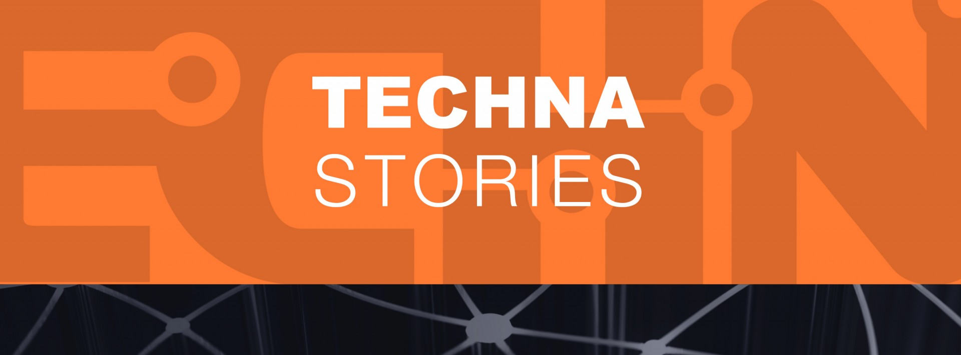 Techna stories text graphic button