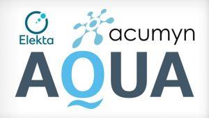Logos from Acumyn, Elekta, and AQUA (Acumyn's software)